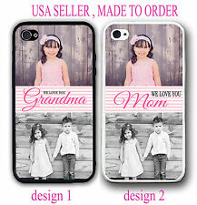PERSONALIZED PHOTO PINK GRANDMA MOTHER Case For iPhone 6 4S 5S 5C Custom Picture