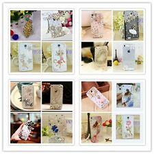 DIY Cute Luxury Bling Crystal Diamond Hard Case Cover for iPhone Samsung Galaxy