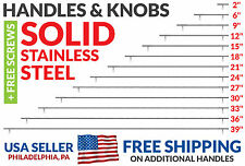 Solid Stainless Steel Handles (Pulls) for Cabinet Doors and Drawers (2-39 in)