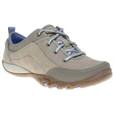 New Womens Merrell Natural Mimosa Bright Suede Trainers Lace Up