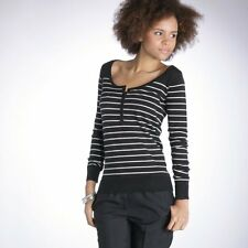 LADIES BLACK AND WHITE STRIPE SWEATER/JUMPER FROM LA REDOUTE BNIP RRP £25.00