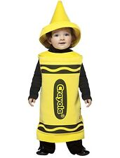 CRAYOLA YELLOW CRAYON TUNIC HALLOWEEN COSTUME INFANT 18 - 24 MONTHS  NO HAT
