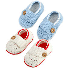 New Baby Infant Toddler Kids Casual Soft Sole Crochet Knit Crib Walking Shoes