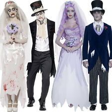 Corpse Bride Costume / Corpse Groom - Halloween Zombie Ghost Death Fancy Dress