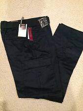 "NWT Men's LR Scoop Navy Blue Slim Fit Belted Cargo Pants ALL SIZE 32"" length"