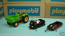 Playmobil 3074 tractor 3694 polar expedition snowmobile trailer PICK one 148