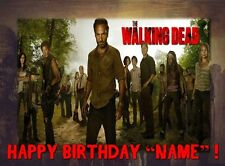 ZOMBIES WALKING DEAD Edible Cake Topper  Frosting Sheet - quarter and half size