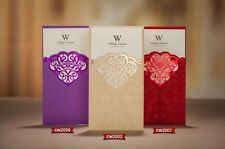 50 Sets Wedding Invitations Cards Complimentary envelopes and seals CW010