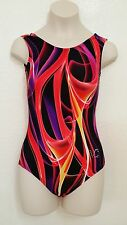 VC GYMNASTIC Gymnastics Leotard, Gymnast Leotards VCGL06 Multi red Graphic gym
