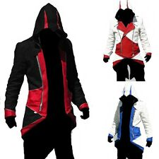 Assassins Creed 3 III Cool Hoody/Jacket Cosplay Costume Party S/M/L Clothing+Hat