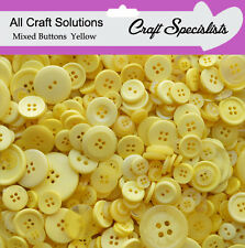 Top Quality YELLOW Buttons / Plastic Buttons / Assorted Buttons / Arts & Crafts