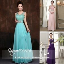 New Lace Chiffon Gown cocktail formal dresses bridesmaid dresses 3 color choices