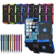 Non-Slip Cube Design Rugged TPU + PC Combo Box Hard Stand Case for iPhone 6 Plus