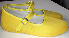 Adini -Mary Jane Canvas Yoga Shoes-Made In China-Yellow