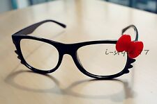 New Lovely Fashion Hello Kitty Bow Style Glasses Frame