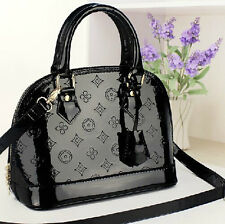 2014 new fashion handbags patent leather shell hand diagonal package