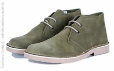 Roamers Suede Leather Round Toe Desert Boot Khaki Mens 3 4 5 6 7 8 9 10 11 12