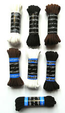 LACES for Boots Kickers round Cord Shoe Laces 140cms / 55ins - Black,Brown,White