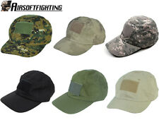 TOP Tactical Outdoor Military Baseball Cap + Loop Attachment Base Black A