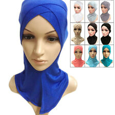 Muslim Cotton Full Cover Inner Hijab Caps Islamic Hats Islamic Underscarf Colors