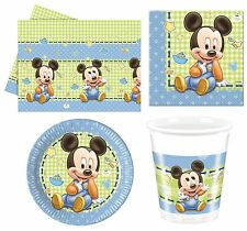 BABY MICKEY MOUSE (DISNEY) Birthday PARTY RANGE (Tableware/Balloons)