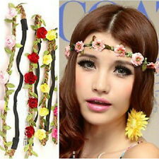 Beatiful Women Fake Flower Hairband Headband Garland Boho Style Festival Wedding