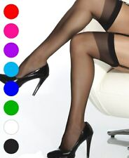 Plus Size Sheer Thigh High Stockings - Coquette 1706X