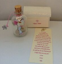 PERSONALISED WILL YOU BE MY BRIDESMAID MESSAGE IN A BOTTLE POEM GIFT CARD