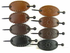 LEATHER SLIDE STICK HAIR PIN BARRETTES - (HB1003)