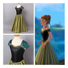 Girl's Frozen Disney Princess Queen Elsa Anna Cosplay Costume Party Fancy Dress