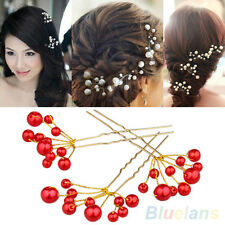 1PC Stylish Jewelry Wedding Bridal Bridesmaid Pearls Hair Pin Clip Comb Headband