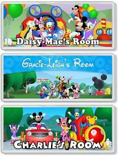 Mickey Mouse Clubhouse Personalised Bedroom Door Plaque / Sign *ANY MESSAGE*