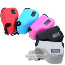 5 Color Neoprene Soft Camera Case Bag For Sony NEX-5T NEX-5R NEX-3N 16-50mm Lens