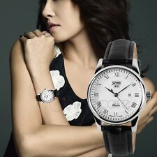 Women's Lady's Luxury Leather Band Analog Quartz Date Wrist Sport Dress Watch