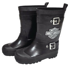 Harley-Davidson Rain Boots for Kids - Girls - Boys - Biker - Childs Footwear