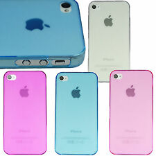 Ultra Thin 0.7mm Hard Clear Matte Frost Back Case Cover Skin for iPhone 4 4S 4G