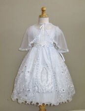 Baptism Dress with Mary Embroidery
