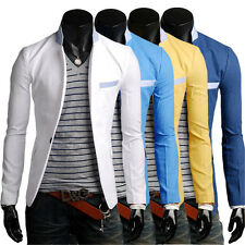 2014 Hot Morden Men Stitching Collar Design Casual One Button Business Suit
