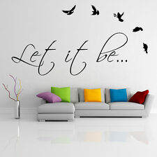 Vinyl Wall Decal Quote Let It Be, The Beatles Music Song Art Decor Home Sticker