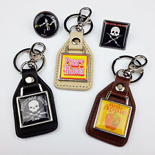 QUENTIN TARANTINO Movies Leather KEY RINGS / TIE PIN BADGES  - You Choose!