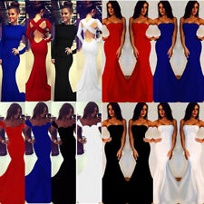 2014 Sexy Women Formal Cocktail Party Evening Prom Dress Halter Long Wrap Gown