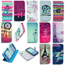 Various Patterns Card Holder Flip Leather Stand Case Cover Shell Housing Mobile