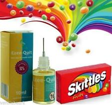 10ML SKITTLES FRUITY NEEDLE BOTTLE  E LIQUID ECIG VAPE CIG JUICE 6 12 18 24 mg