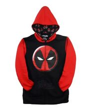 Deadpool Logo Symbol Marvel Comics Licensed Adult Zip Up Hoodie S-XXL