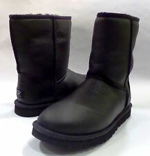 Men's Ugg Classic Short Leather Boot Black Style #: 1003944