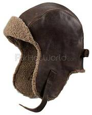 Vintage Distressed Leather Pilot Hat -Brand: FRR