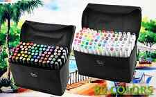 Set of 80 colors Touch Five Art Sketch Markers Twin Marker Broad Fine Point