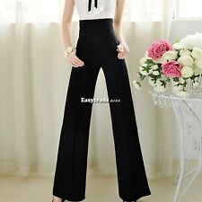 Women Palazzo Wide Leg Pants Slouchy Yoga Trouser  S M L XL XXL ESY1