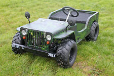 110cc Petrol 2 Seater Ride On Jeep Car - Black, Red or Camo Colours Available!