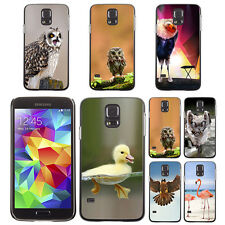 Bird Owl Pattern Print Hard Phone Case Cover for Samsung Galaxy S5 S 5